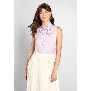 Modcloth Lavender Bow Top